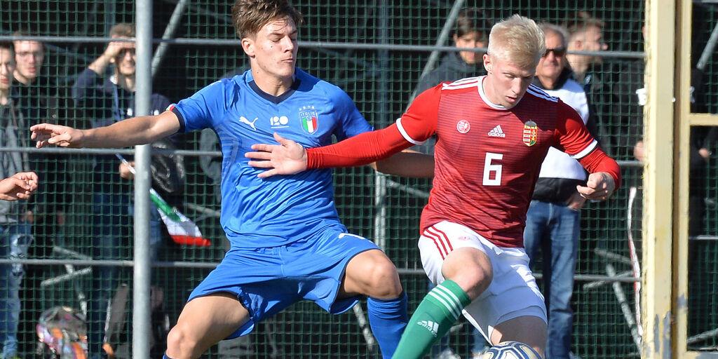 Pompetti in azione nell'Italia under 19 (getty)