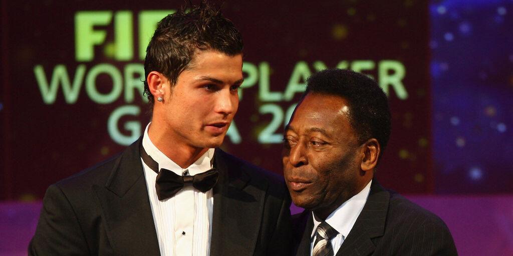 """Pelé a Ronaldo: """"Congratulazioni per aver battuto il mio record"""" (Getty Images)"""