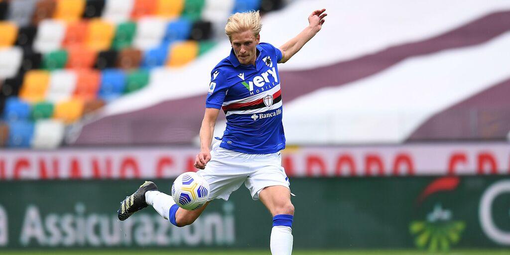 Sampdoria: problema alla coscia sinistra per Thorsby, le ultime (Getty Images)