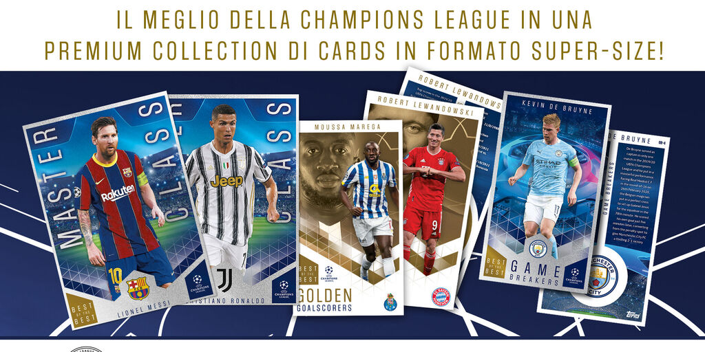Ritorna la Champions League, e in edicola arriva Best of the Best, la Premium collection TOPPS di Cards  (Getty Images)