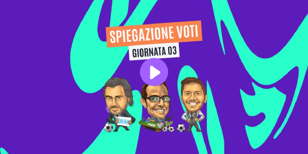 VIDEO: spiegazione voti Fantacalcio 3ª giornata - Trevisani, Pardo, Giunta