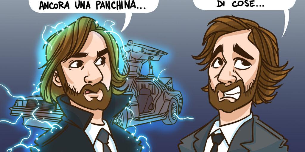 LA VIGNETTA DI FC - Pirlo vs Pirlo (Getty Images)